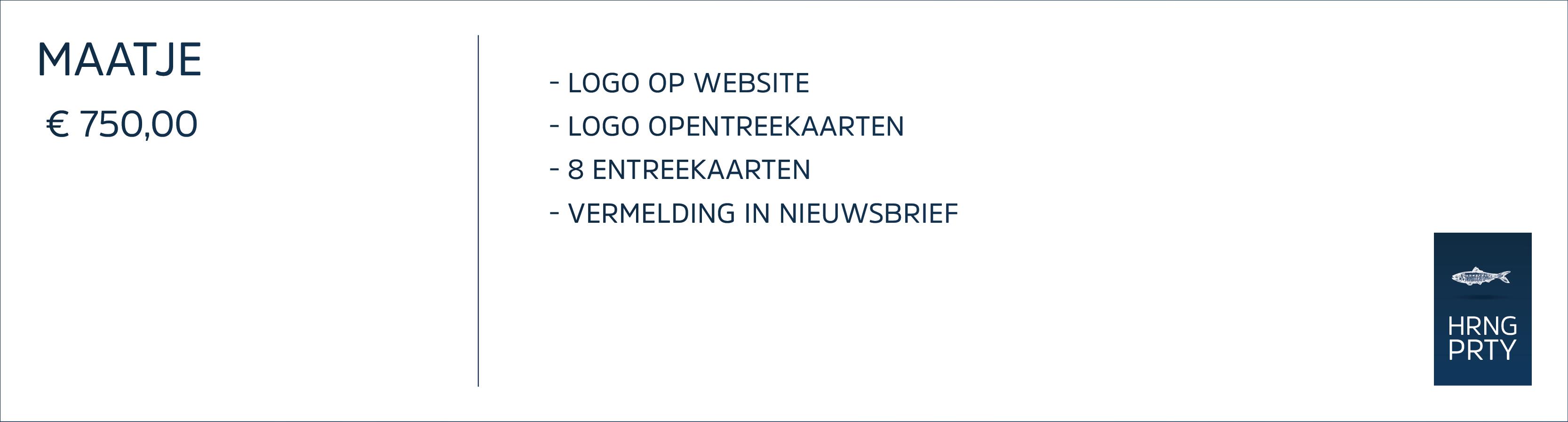 Sponsorpakket Maatje BosscheHaringParty